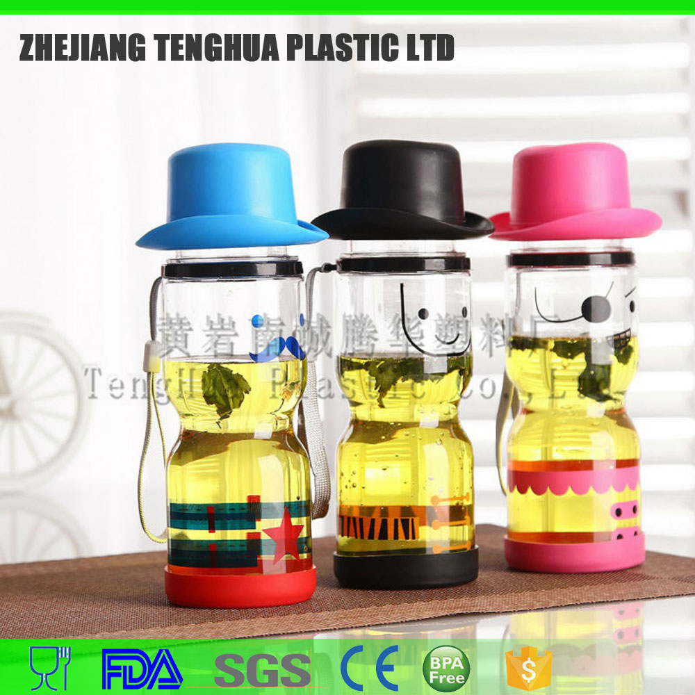 2015 plastic water bottle 6121 with fashion picture hot sale all over world popular sport cup