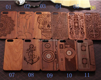 Luxury natural carved real wood Phone case For iPhone 6 6s Case, Smartphone Wooden Cover Case For Iphone 6 6s