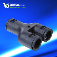 IP66 Liquid Tight PA Nylon 3-way Y-shaped Connector For Corrugated Conduit