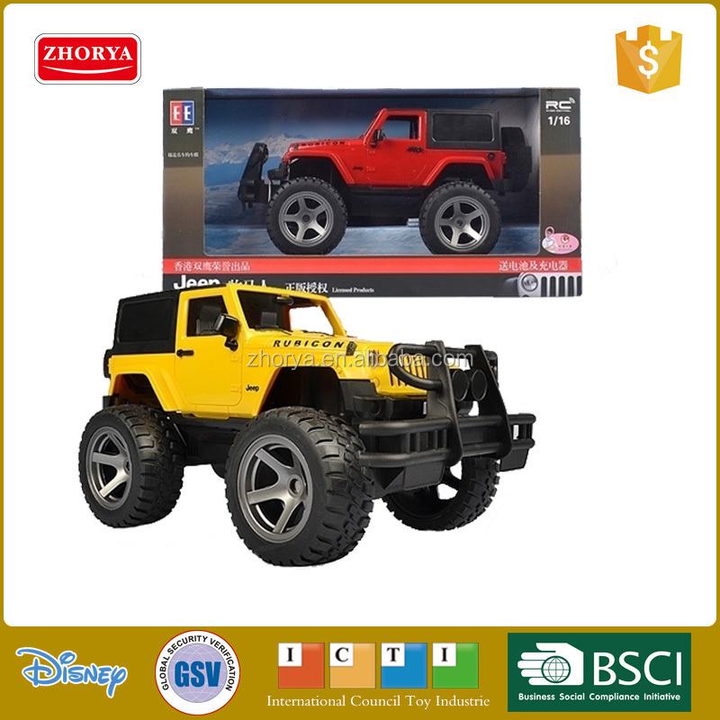 1:16 radio control car 4 WD new tpye high speed RC jeep Wrangler Rubicon jeep toy car included battery