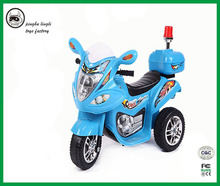 Newest children electronic toy police electric motorcycle ride on car with remote control