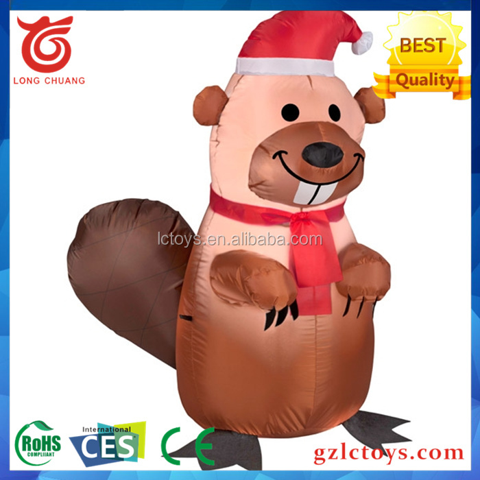 2016 promotion Hot sale giant inflatable beavers for advertising