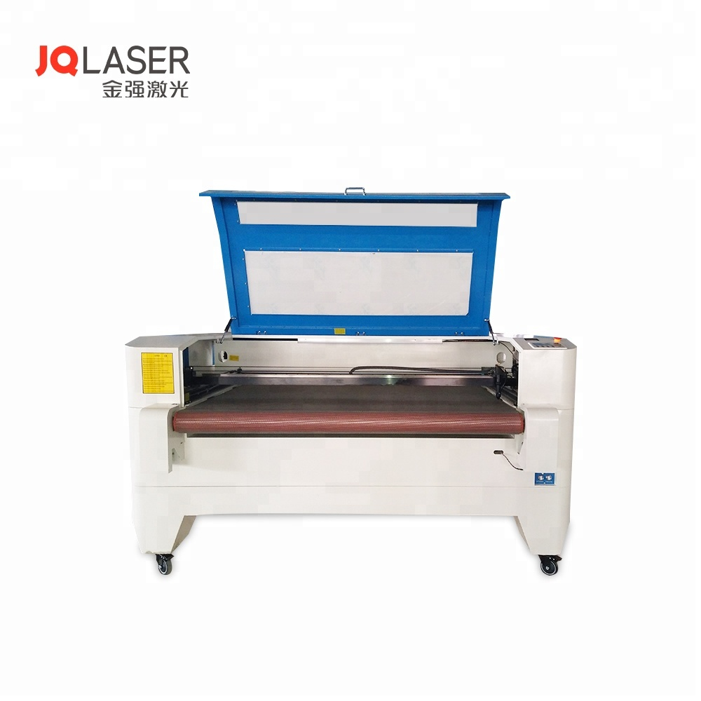 JQ1610 Widely Used Fabric and Cloth Film Laser <strong>Cutter</strong> 80W Auto Feeding CO2 Laser Engraving and Cutting Machine Price