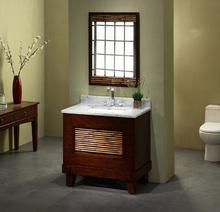 Modern Solid Wood bathroom cabinet with bamboo VI-1237