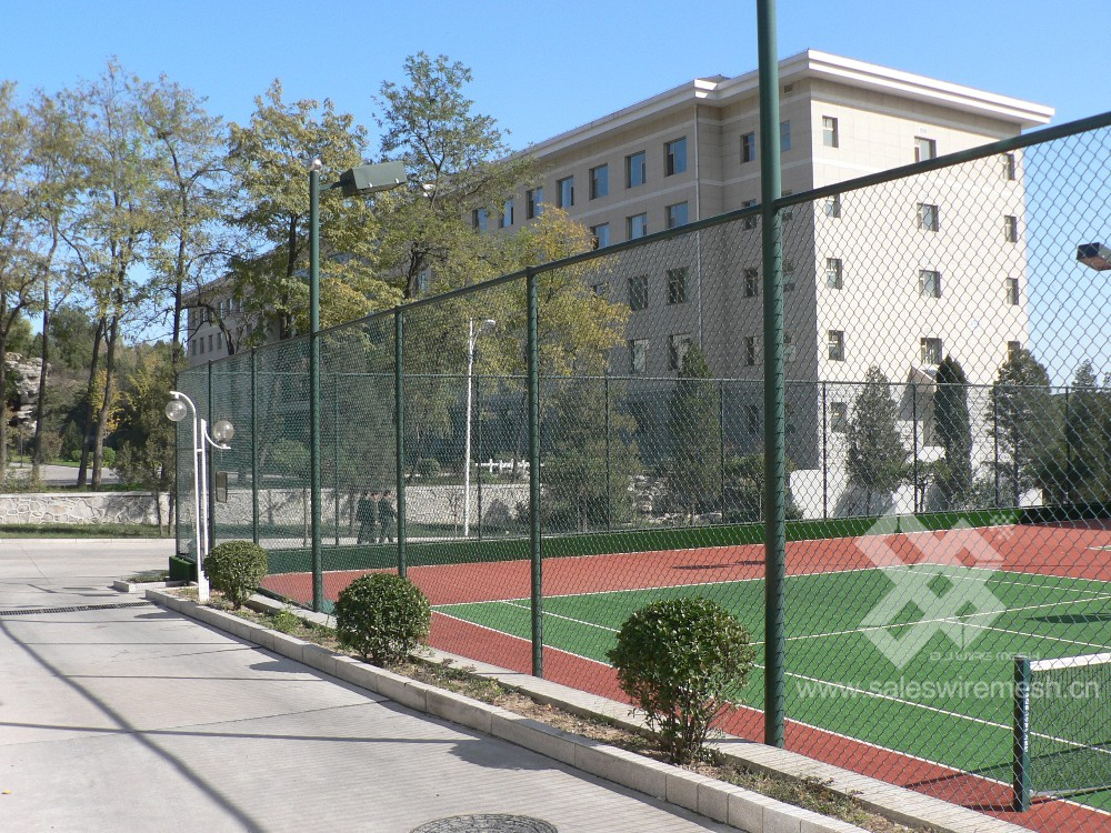 wholesale white chain link fence installation