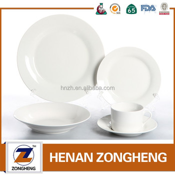20 pcs whoelsale price inexpensive stock fine hotel ware white porcelain dinner set