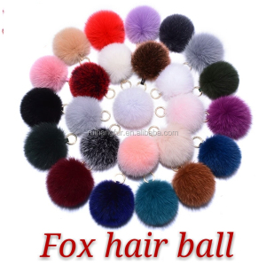 Factory direct selling genuine color fur ball pendant raccoon dog Ball Pendant