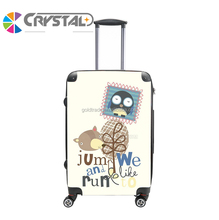 Suitcase factory customized spinner wheels high end vintage style luggage 20 24 28inch ABS+PC suitcase