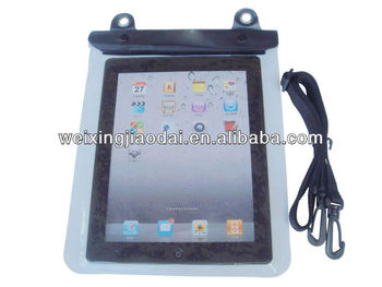 Black Waterproof Pouch Bag Case for iPad Mini 4 / Galaxy Tab A / Tab E 8