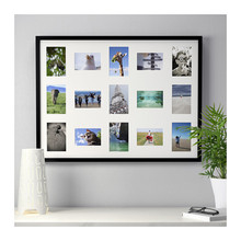 12 opening window photo frame with cardboard mat/3 opening window landscape picture frame display case
