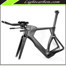 2017 LightCarbon Super Strong tube TT bike frame with hide brake design and Di2 compatible