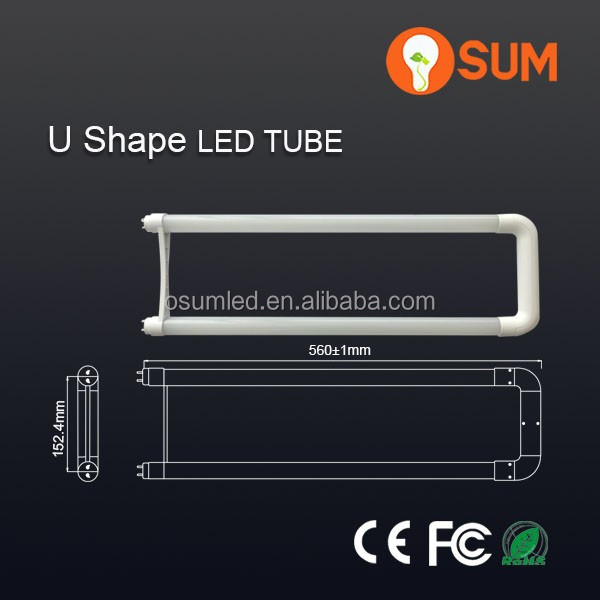 2015 new hot led t8 <strong>U</strong>-Tube 110VAC-120VAC replacement 60w fluorescent <strong>lamp</strong>