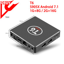 T6 Android 7.1 Smart TV Box 2GB RAM 16GB ROM Amlogic S905X Quad core 64 Bit 4K X96 T6 OTT TV Box