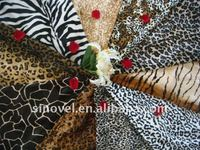 Polyester animal skin pattern fabric, printed velvet fabric