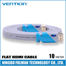 Vention 10 M / 30 FT 1.4V1080P For Computer Xbox PS2 Blue Flat Hdmi Cable