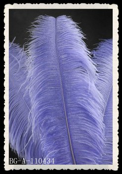 Christmas decoration blue ostrich feather plumes