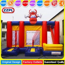 Funny Crown bouncer inflatable combo /bouncy castle with slide