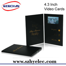 OEM Printed 4.3 inch lcd video brochure \lcd video card