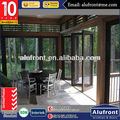 Aluminium Glass Folding Door in wooden finished color