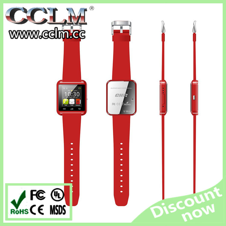 "TFT 1.44"" Display Screen Bluetooth android gps U8 smart watch cheap mobile phone"