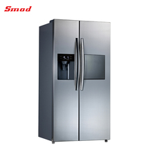 585L no frost side by side refrigerator with ice maker and water dispenser