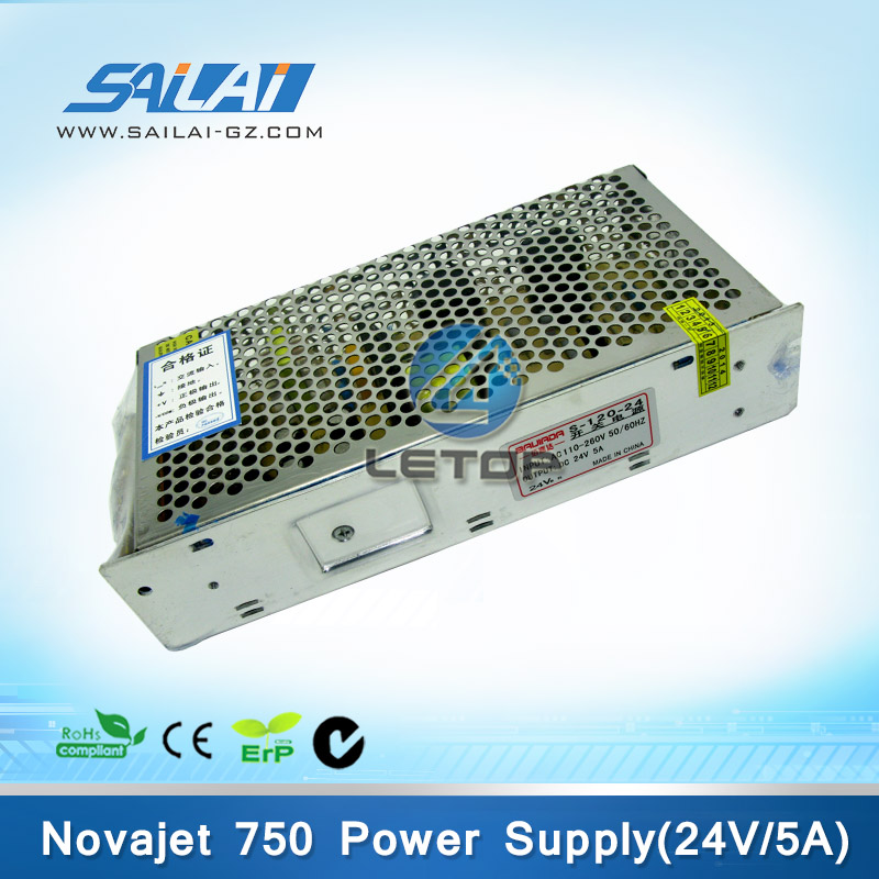 High Quality!! 5A 24v power supply for novajet 750 printer