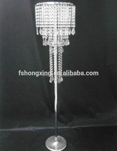 Large table top acrylic chandelier flower stands Hanging Crystal Beaded Waterfall Centerpieces/Flower Stand