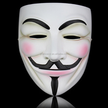 HIgh quality movie V For Vendetta resin mask White and bronze collector's edition masks
