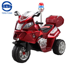 Cute kids electric motorcycle with police alarm light/electronic kids motorcycle