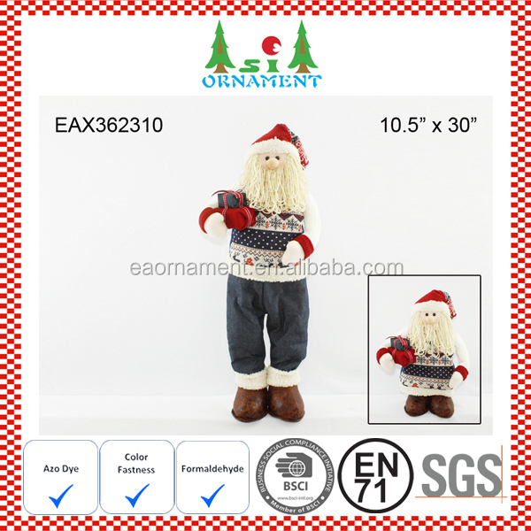 Denim extensible christmas santa claus