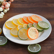 2016 wholesale lifelike artificial decorative fruit and vegetable slice