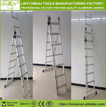 Aluminum Folding Ladder Multi-Purpose Multiple Position 12 Steps