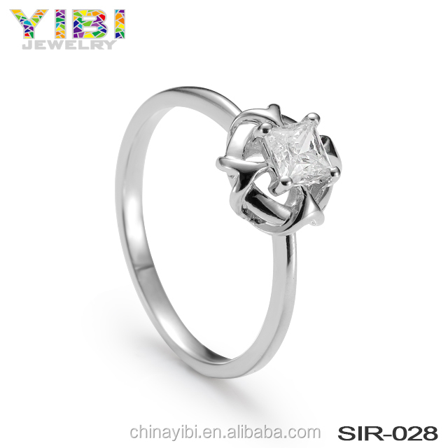 latest new design women sterling 925 silver ring jewelry for girls