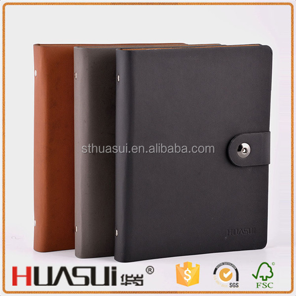 Promotional chinese pu leather cover cheap magnetic customised notebooks