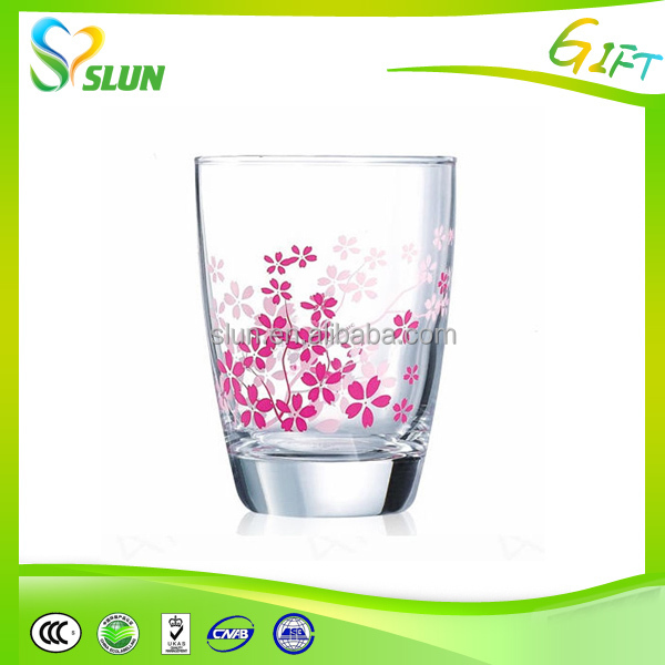 New design clear glass tea cup