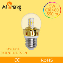Zhongshan city made 125lm/W candle led bulb parts