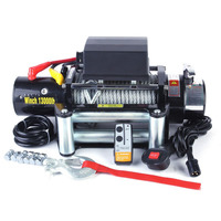 13000lb 4x4 Recovery Truck Winch 12V Electric ATV Winch