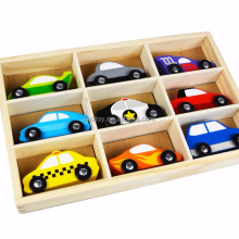 Wholesale Hottest Wooden toy car Other Toy Vehicle Set With 9 pcs Cars for Kids