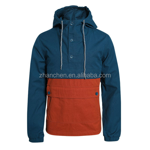 Latest Design Slim Hooded Windbreaker Jacket Fashion Coat Men