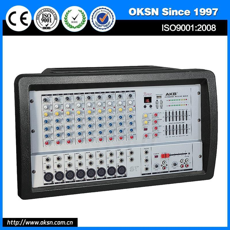 Brand new M814USB 8-channel pro audio sound mixer free console with high quality