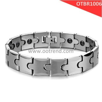 New Arrivals Bracelets, New Design Men tungsten bracelets, energy magnet inlaid men bracelets