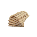 Natural wooden eco-friendly white engraved popsicle sticks food safe disposable