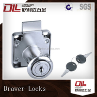 zinc alloy drawer lock used on cabinet, wardrobe, office desk