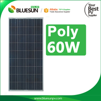 2016 top sale boat solar panel poly 60wp with 36 pcs solar cell