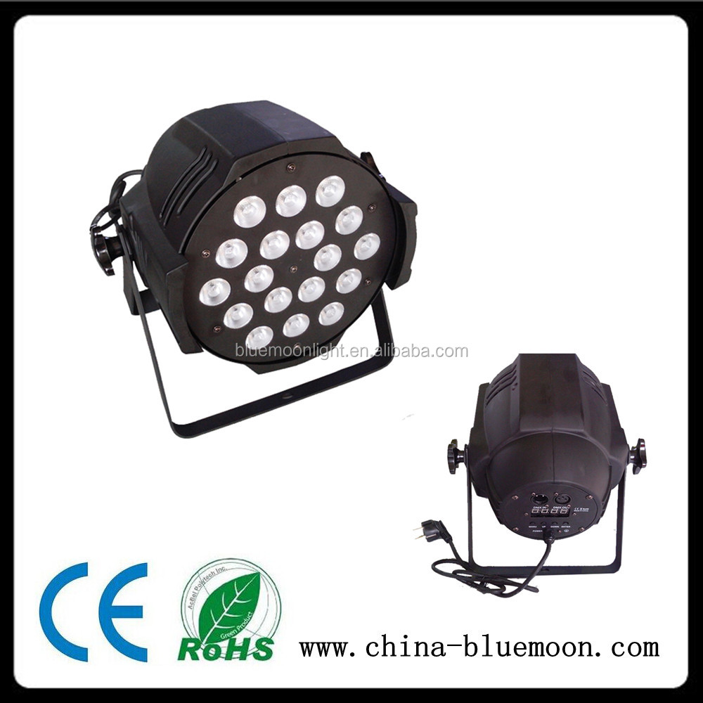 par 12w led equivalent 5 in1 RGBWA 18* 10 led par 64