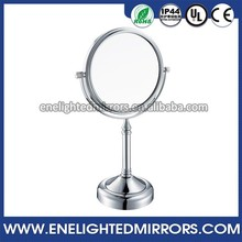 6 Inch Double Sides Lighting Diamond Glass magnifying illuminated vanity cosmetic mirror