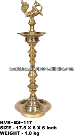 BRASS FIVE BATI PEACOCK DEEPA MURG0A DIYA DEEPA OIL LAMP