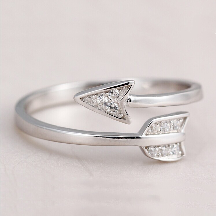 Elegant Pure Silver Ladies Ring Delicate Party Jewelry Trendy Flexible Engagement Band Women Accessory