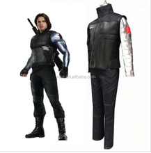 2016 Newest Movie Captain America 3 Civil War The Winter Soldier Cosplay Costume Bucky Marvel Superhero Captain America Costume