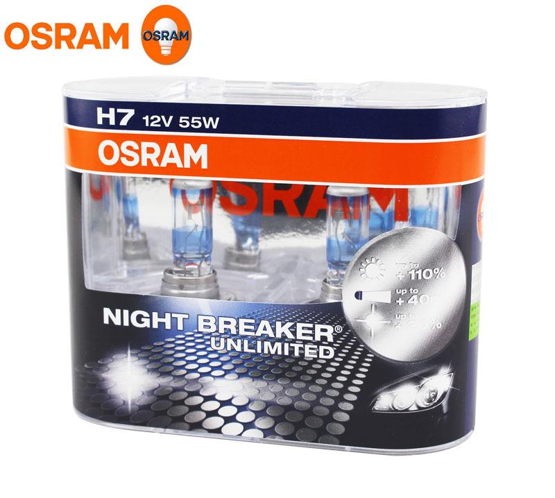 osram h7 3600k night breaker unlimited 12v 55w car bulbs. Black Bedroom Furniture Sets. Home Design Ideas
